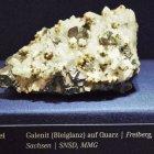 Galenit auf Quarz, Freiberg