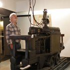 """""""Dorothea"""": die erste elektrische Grubenlok der Welt - eine Leihgabe des Siemens-Forum München - fuhr in den Steinkohlenwerken von Freital-Zauckerode"""