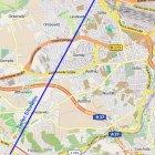 Schematischer Verlauf des geplanten WISMUT-Stolln  -erstellt mit www.openstreetmap.de-  -nach Angaben WISMUT GmbH-